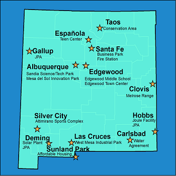 Planning and Development points throughout NM